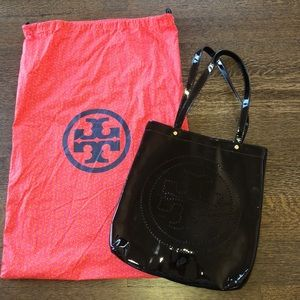 Tory Burch perforated patent leather bag